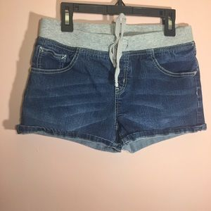 Justice Jean Shorts with Elastic Waist Band